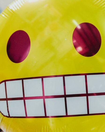 Lachender Smiley Ballon