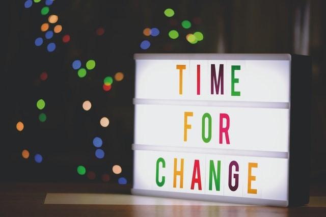 Schild Change Veränderung